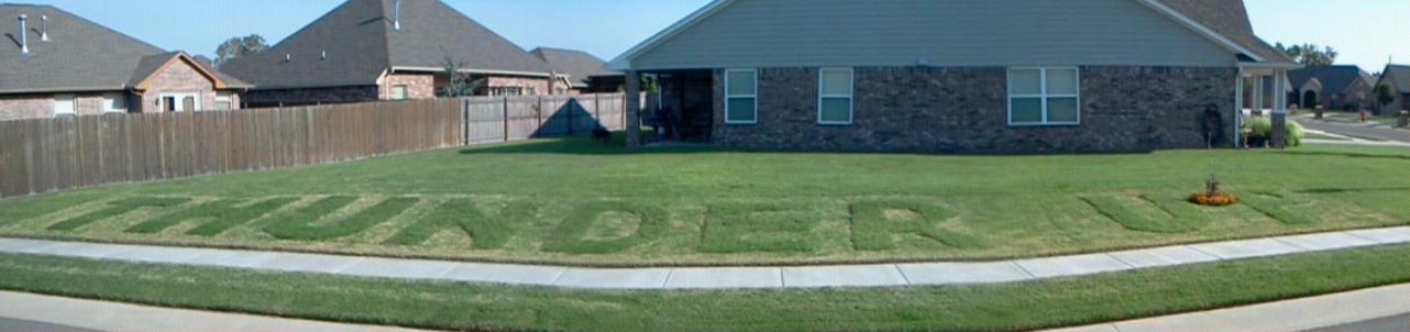 Thunder Up lawn in Oklahoma City