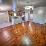 open greatroom with hardwood floors