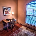 Hardwood flooring in study