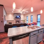 Large island kitchen/great room