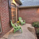 Front porch with chairs